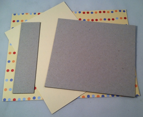 Chipboard cover and end boards with cover and liner papers