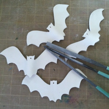 Bats Ready for Sanding
