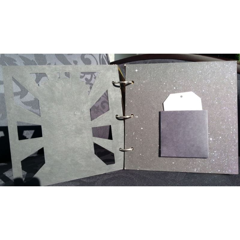 Whovian Inspired Mini Chipboard Album Kit - Cover and Page 1