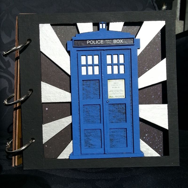 Whovian Inspired Mini Chipboard Album Kit - Cover