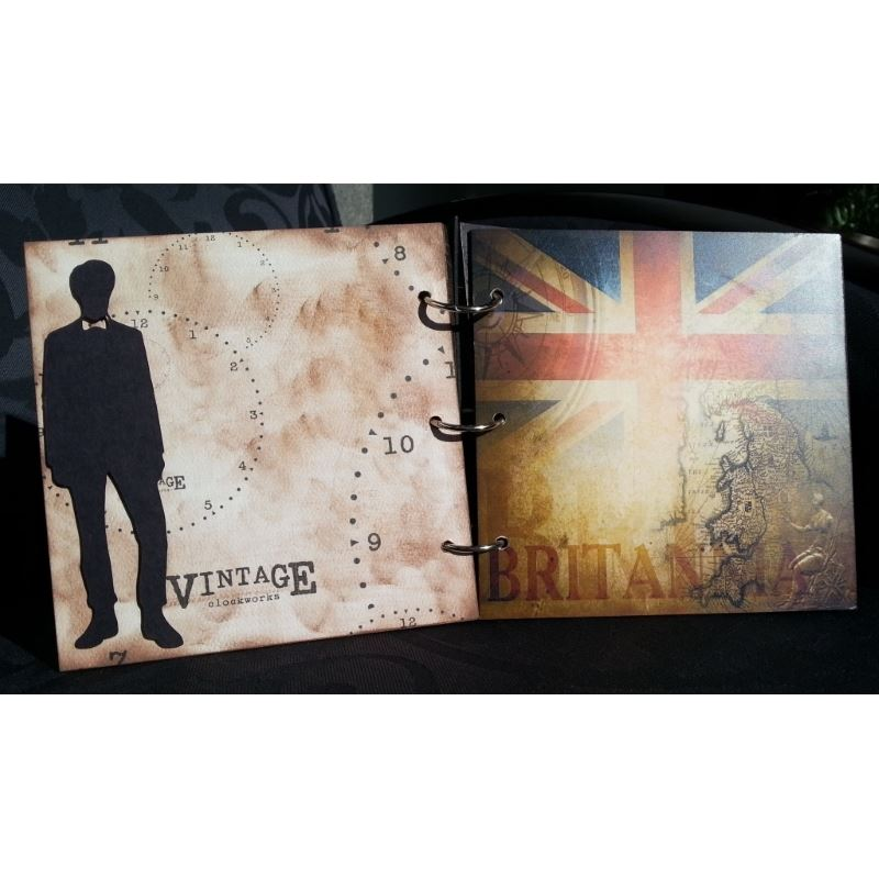 Whovian Inspired Mini Chipboard Album Kit - Page 2 Back and Page 3