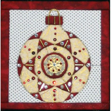Christmas Tree Ornament 4a No Sew Quilted Wall Hanging Kit