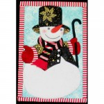 "Spencer the Snowman ""No Sew"" Quilted Wall Hanging Kit"