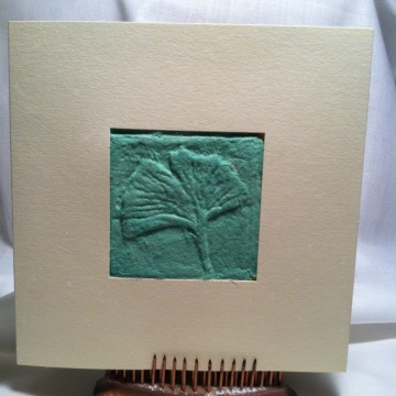 Trio of greeting cards createncraft the third card displays a dried leaf on a background of handmade paper i dried this coleus leaf using the garden press the paper has botanical inclusions m4hsunfo