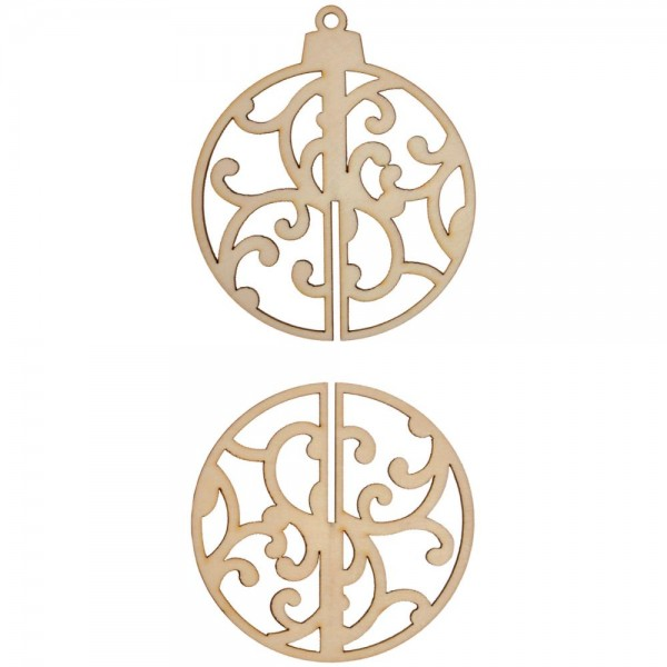 FL409 3D Flourish Baubel Pack 1 Ornament