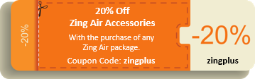 20% off Zing Air Accessories
