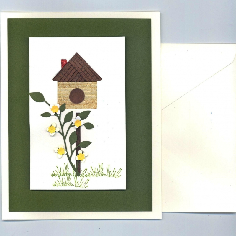 Birdhouse Iris Folding Card kit Deluxe
