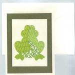 Frog Iris Folding Card Kit