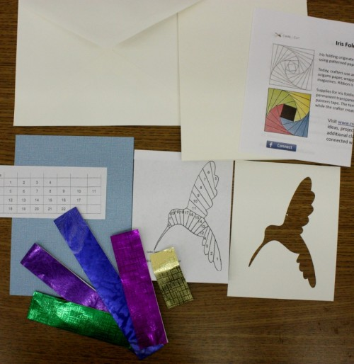 Hummingbird Iris Folding Kit