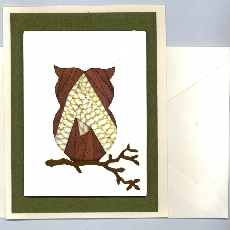 Owl Iris Folding Card Kit
