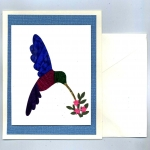 Hummingbird Deluxe Iris Folding Card Kit