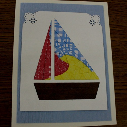 Sailboat Iris Folding card kit