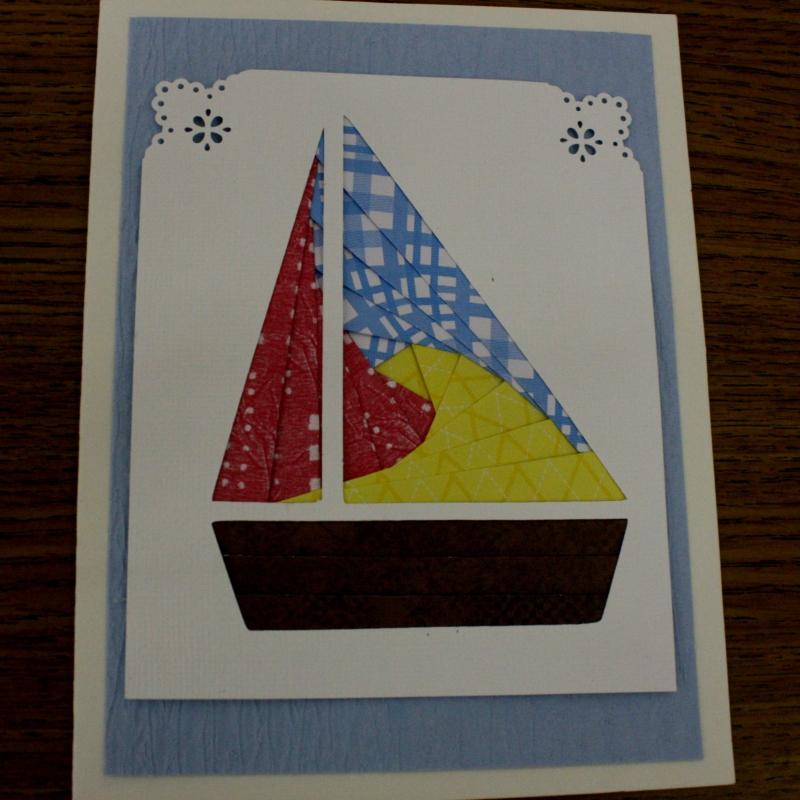 Sailboat Iris Folding card kit