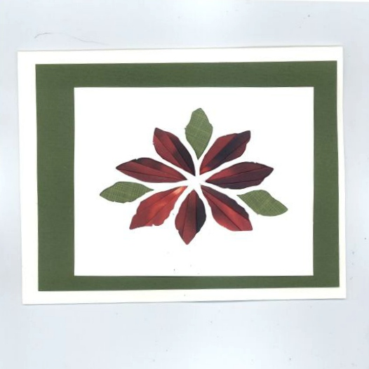 Poinsettia Iris Folding Card Kit