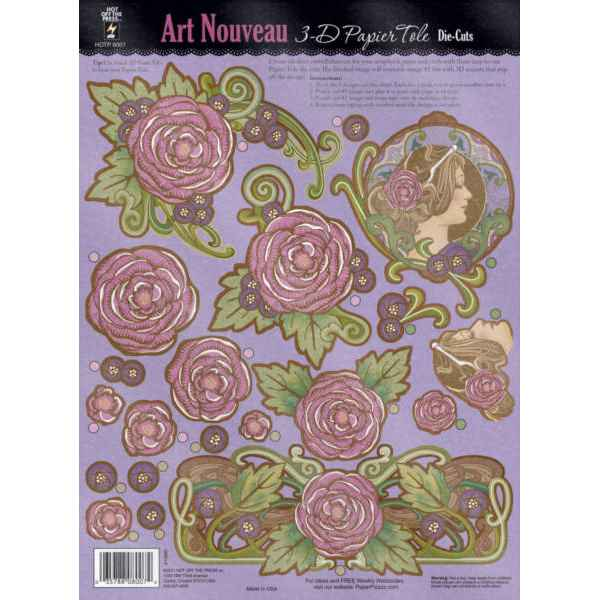 Paper Flower Pattern Art Nouveau