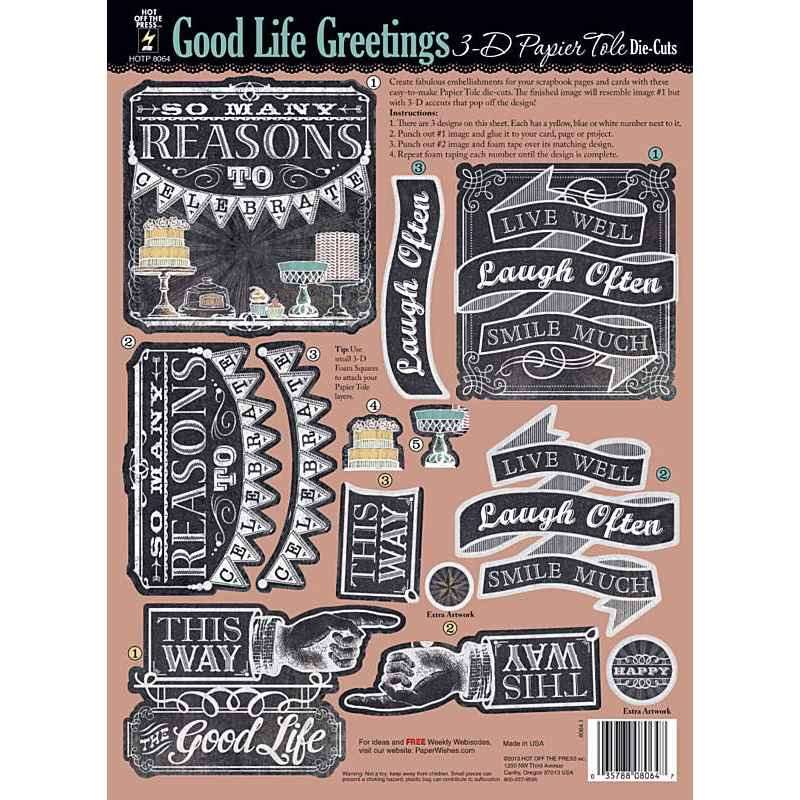 Good life greetings 3d paper tole by hot off the press createncraft good life greetings 3d paper tole by hot off the press m4hsunfo