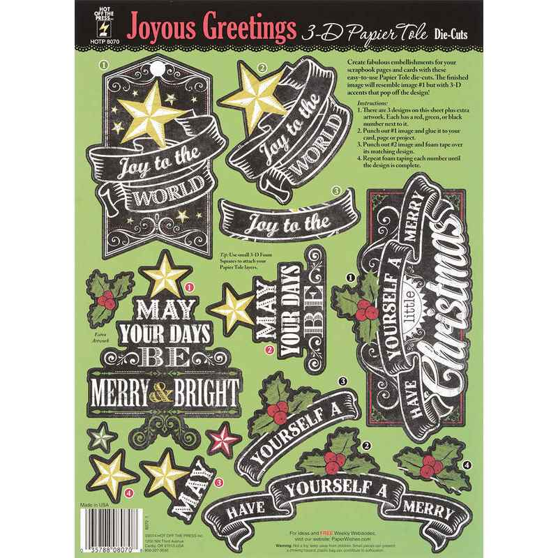 Joyous greetings 3d paper tole by hot off the press createncraft joyous greetings 3d paper tole by hot off the press m4hsunfo