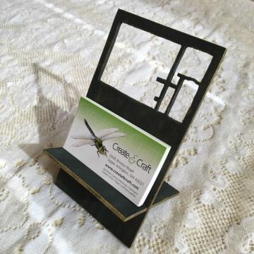 Finished business card holder
