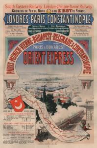 First Orient Express poster by Jules Chéret, 1888 (Photo: Arjan den Boer)