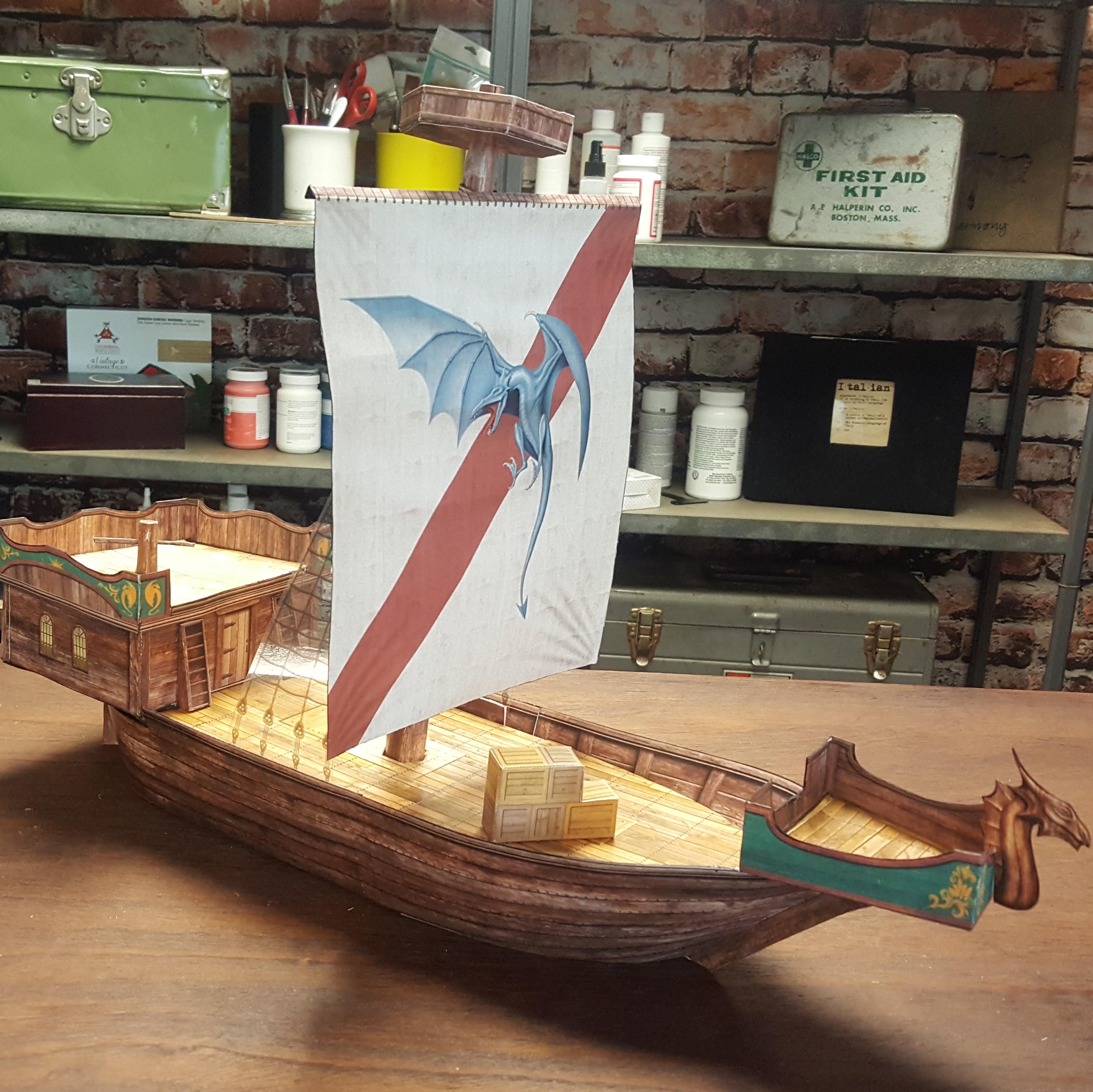 Dwarven Airship Paper Terrain (SPA18135006) - CreateNCraft