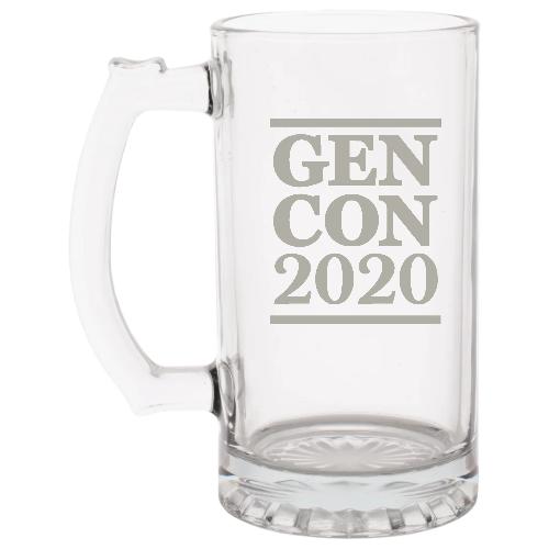 Glass Sports Mug with Gen Con Logo